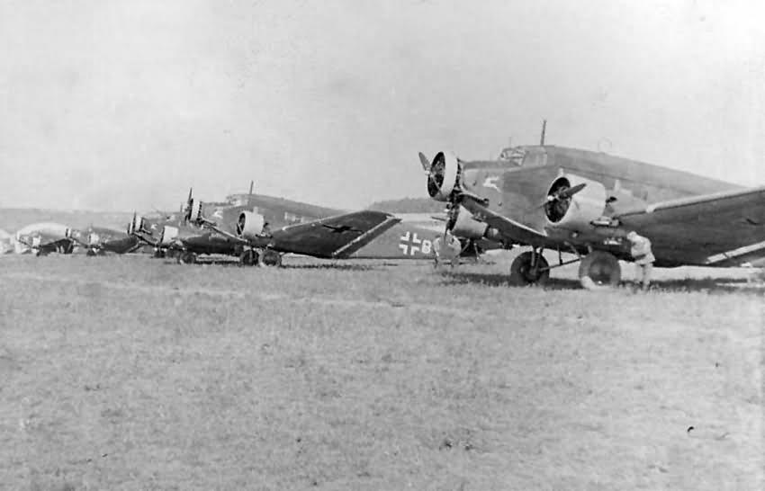Junkers Ju 52 3m 9P+BL 3.KGrzbV 9 May 1941
