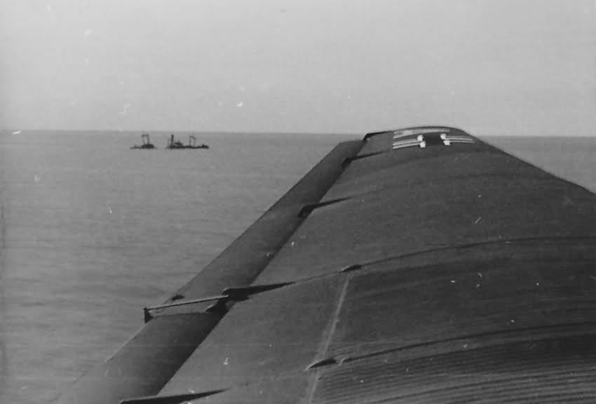 Junkers Ju 52 3m over Mediterranean Sea