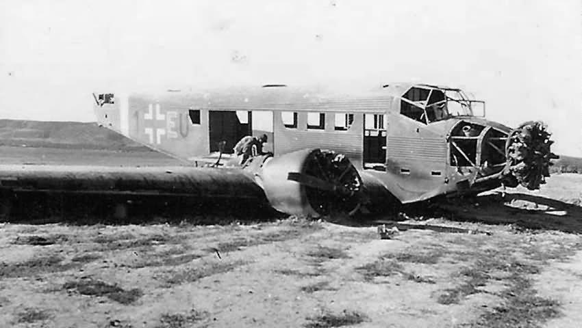 destroyed Ju 52