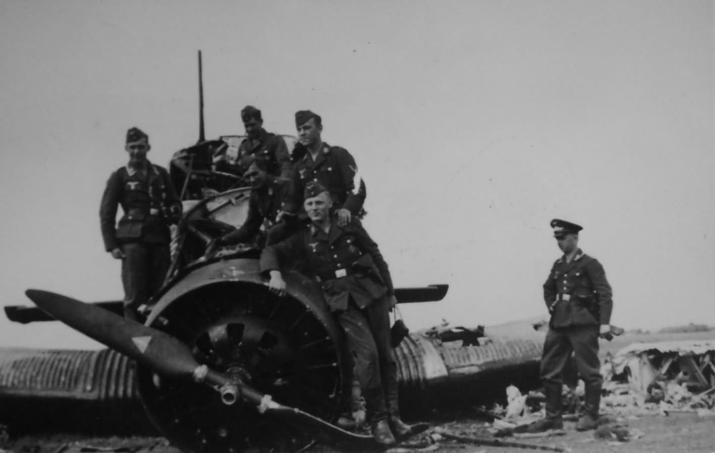 Destroyed Ju 52/3m 23