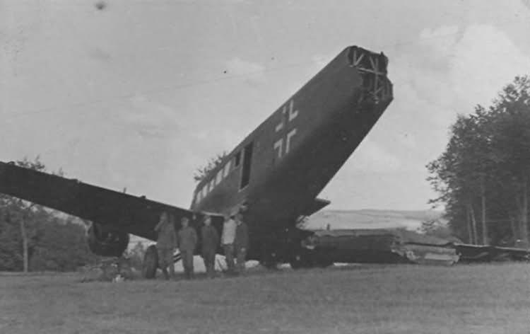 destroyed Ju 52 3m