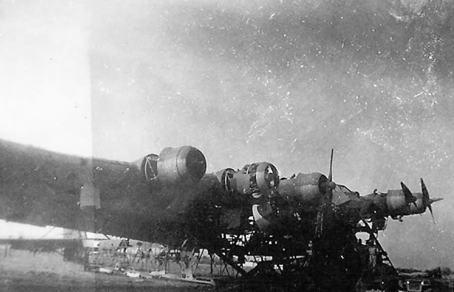Wreckage of the Messerschmitt Me 323