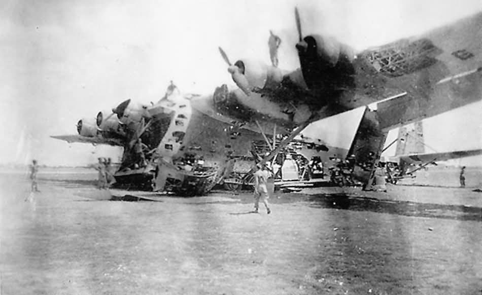 Wreckage of the Messerschmitt Me 323 Gigant