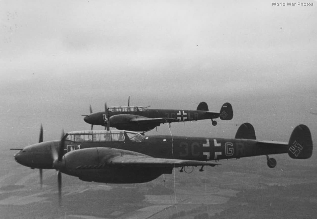Bf 110 E-2 3C+GR and 3C+LR of the 7/NJG 4 1942