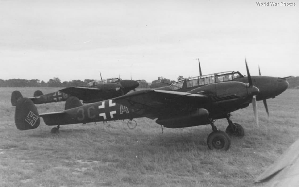 Bf 110E-2 of the 7/NJG 4 1942 2