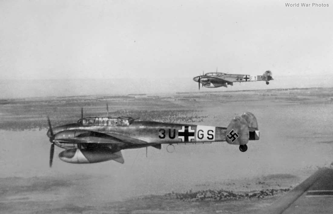 Bf 110D-3 3U-GS of the III/ZG 26