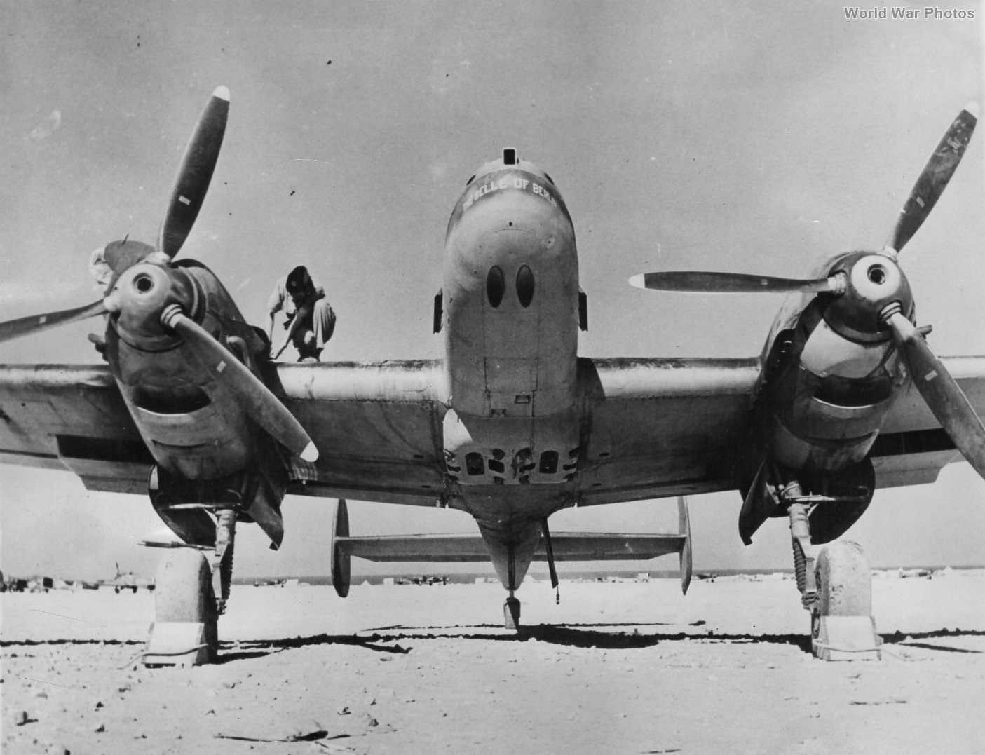 Captured Messerschmitt Bf110 HK846 Africa 1941
