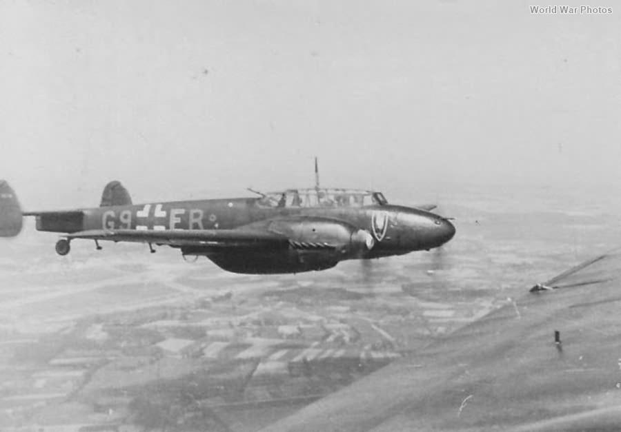 Messerschmitt Bf 110E G9+ER of the 7/NJG 1
