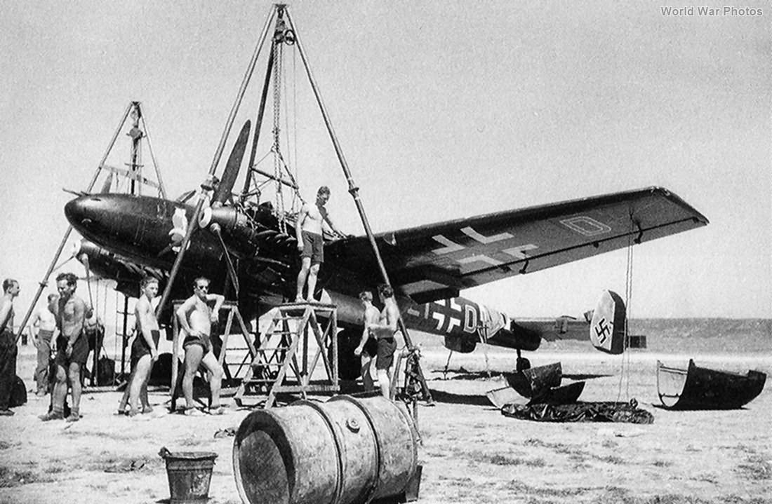 Me 110 code L1-CH of the NJG 3 April 1941