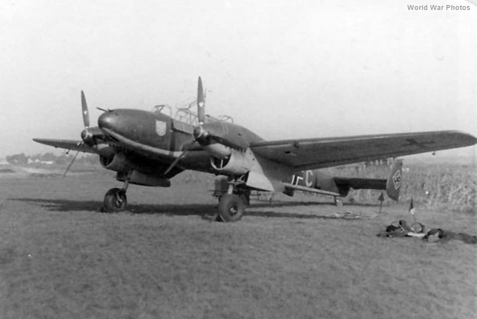 Messerschmitt Me 110B M8-HL of the 3/ZG 76 Olmutz September 1939