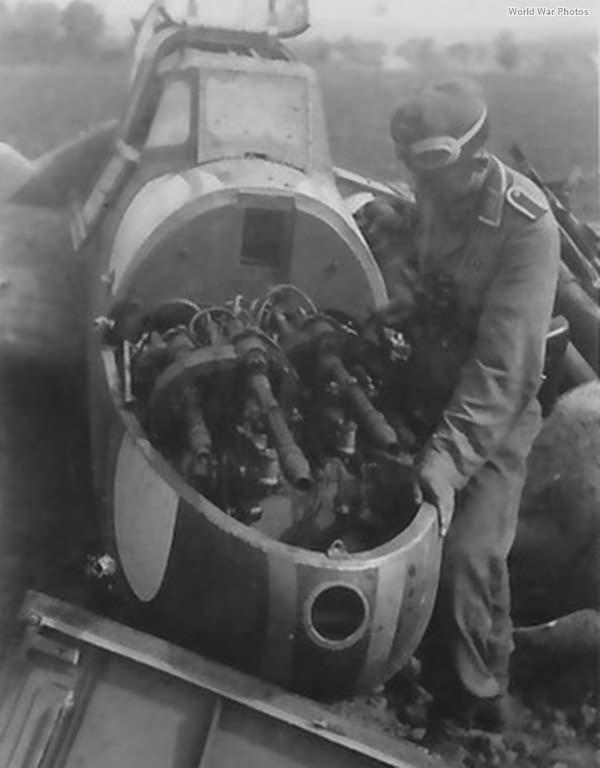 Me 110 nose gun compartment