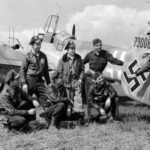 Captured Bf 110G-4 730089 and pilots from 365th FG