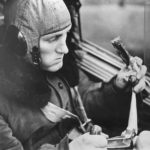 German pilot eats pemmican sausage in Bf 110 cockpit 40