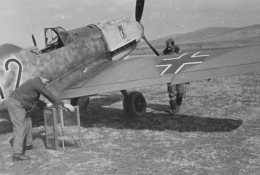 Bf109E red 12 5.JG 27 in Sofia Vrba April 1941 photo