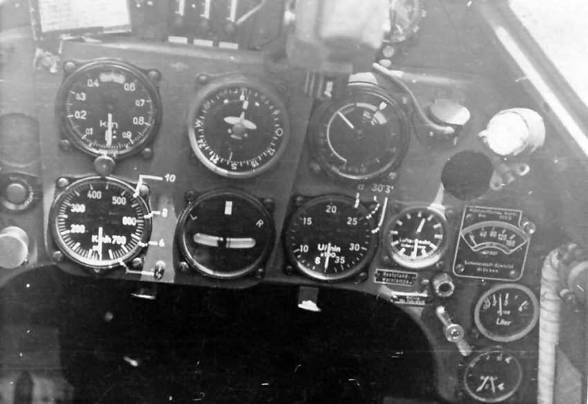 Bf109 E of 6/JG 53 cockpit 1940