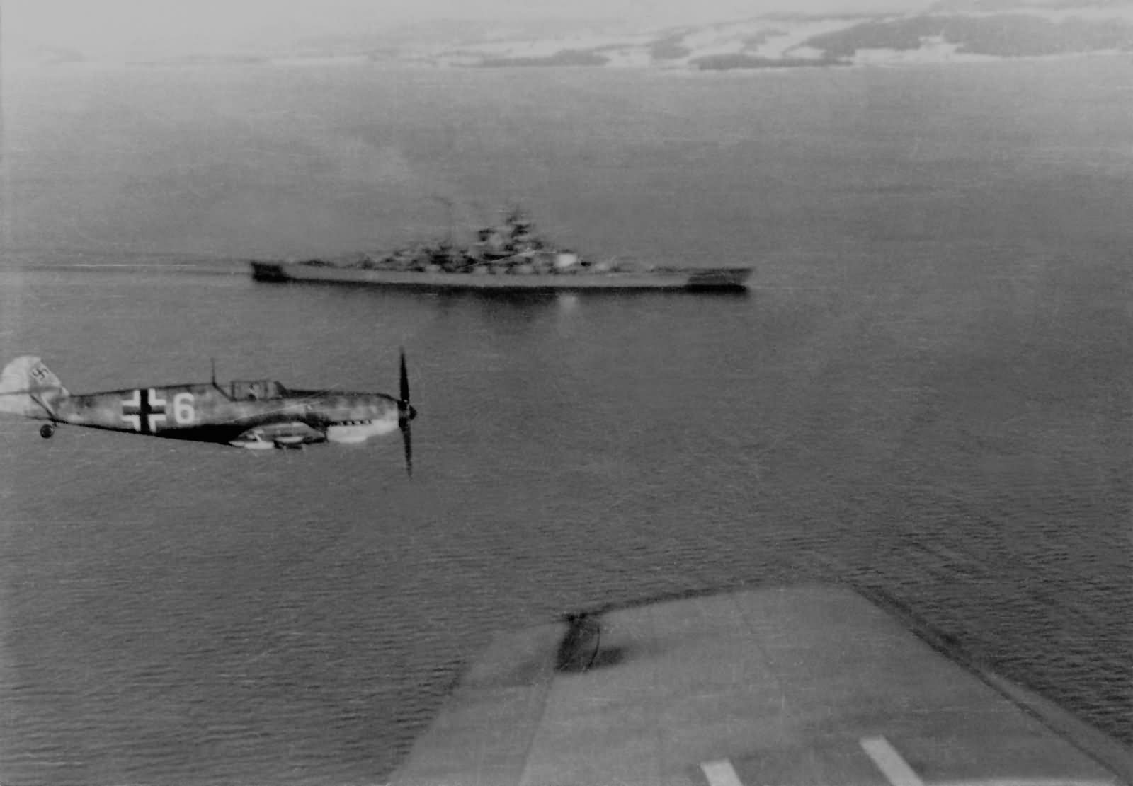 Bf109 and battleship Tirpitz 1942
