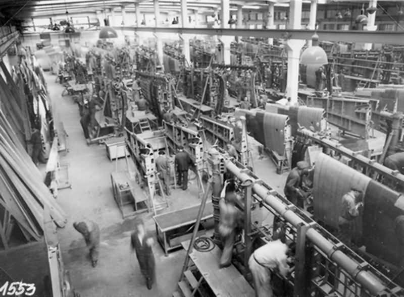 Bf 109 in Wiener Neustadter Flugzeugwerke factory 23