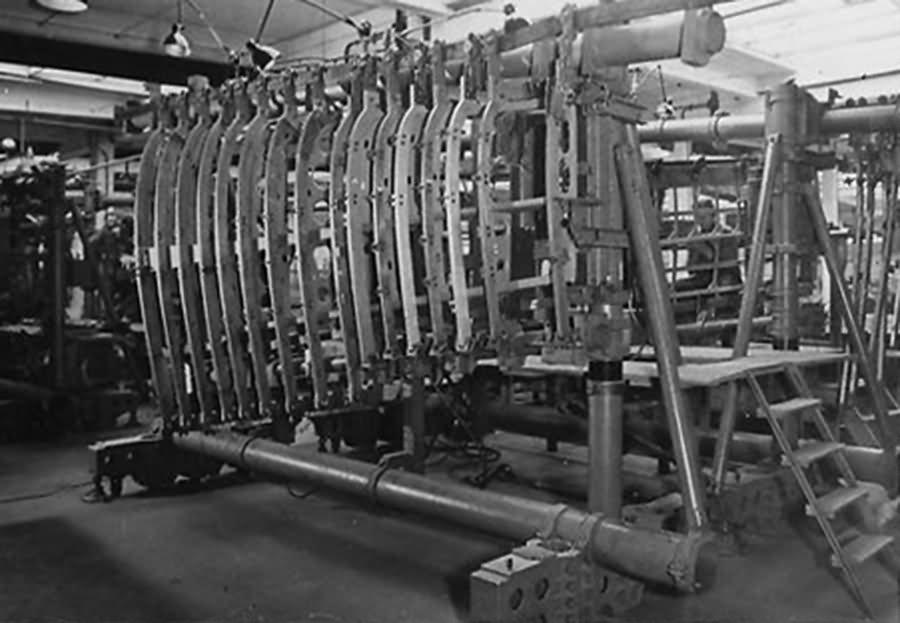 Bf 109 in Wiener Neustadter Flugzeugwerke factory 24