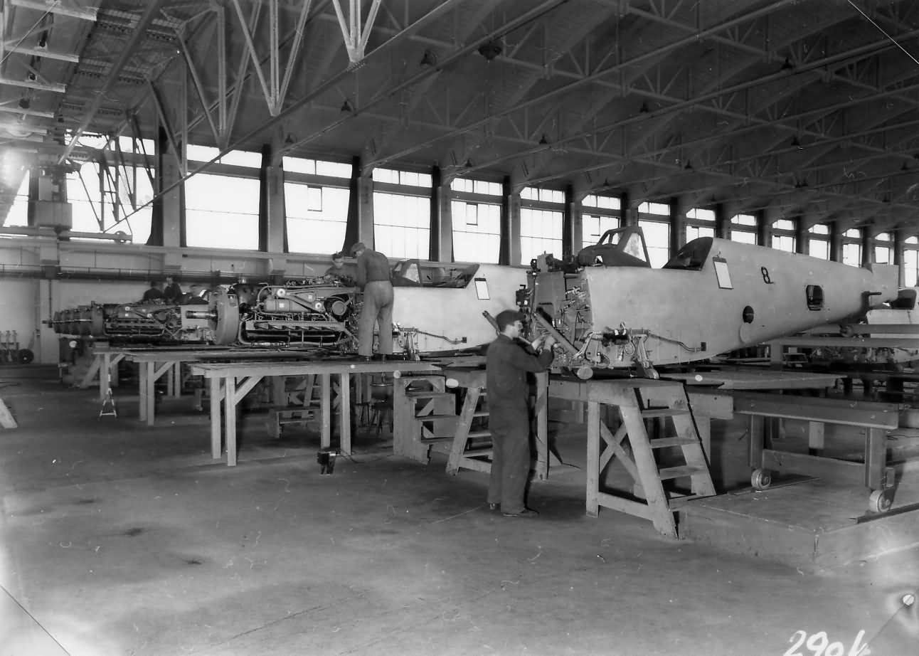 Messerschmitt Bf109 assembly line WNF 2