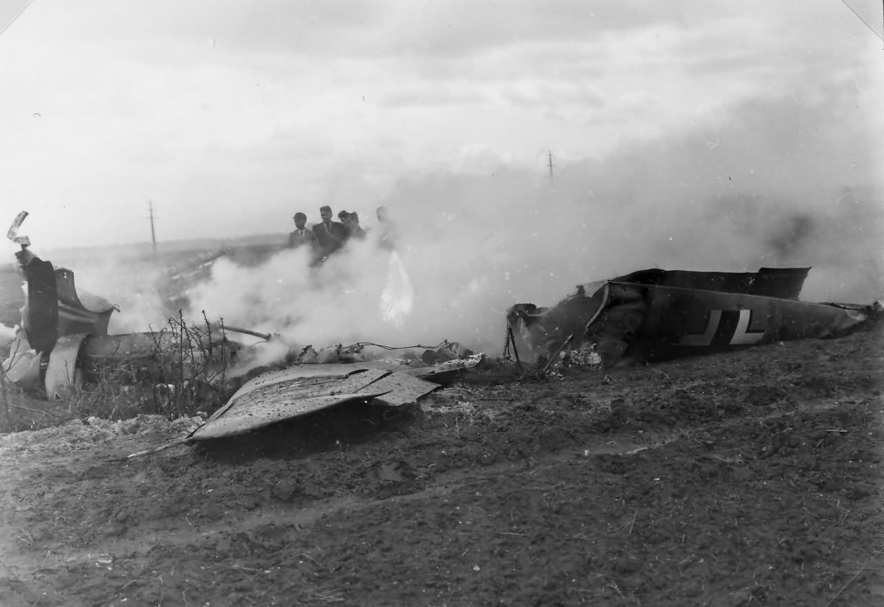 Messerschmitt Bf109 destroyed WNF