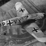 Messerschmitt Bf109 DP+VX in flight