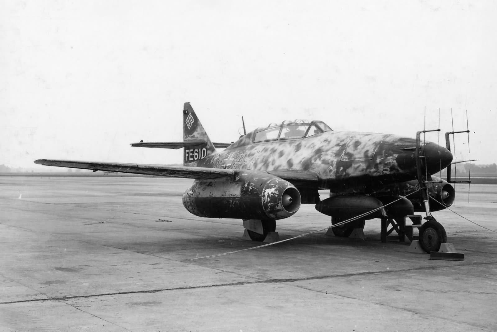 Me262B Jet Fighter in Germany 1945