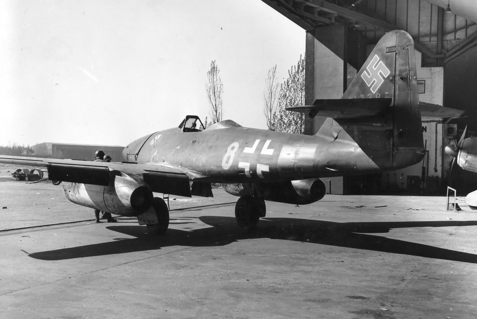 Me262 yellow 8 W. Nr. 112358 of the JG7, Stendal-Borstel Germany 1945