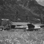 Me262 W Nr 111857 and Junkers Ju87 Stuka Munich Area 1945