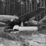 Jet fighter Me262 Schwalbe W.Nr. 170312 Germany 1945