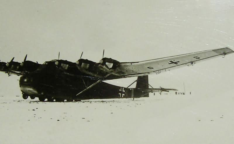 Me 323 Gigant on the snow-covered airfield