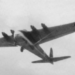 Four-engined Me 323C in flight