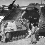 Me 323 unloading a Marder II