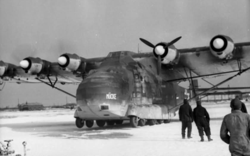 Me 323 at a captured Soviet airfield