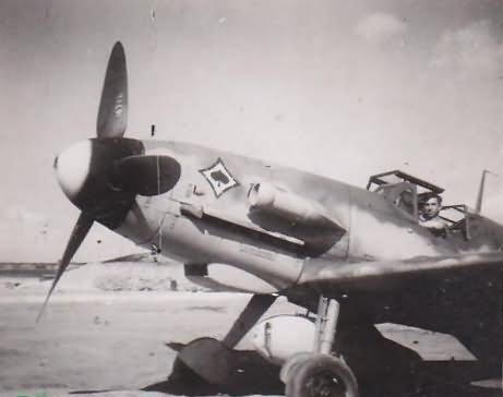 Me109 JG53 staffelabzeichen pik as
