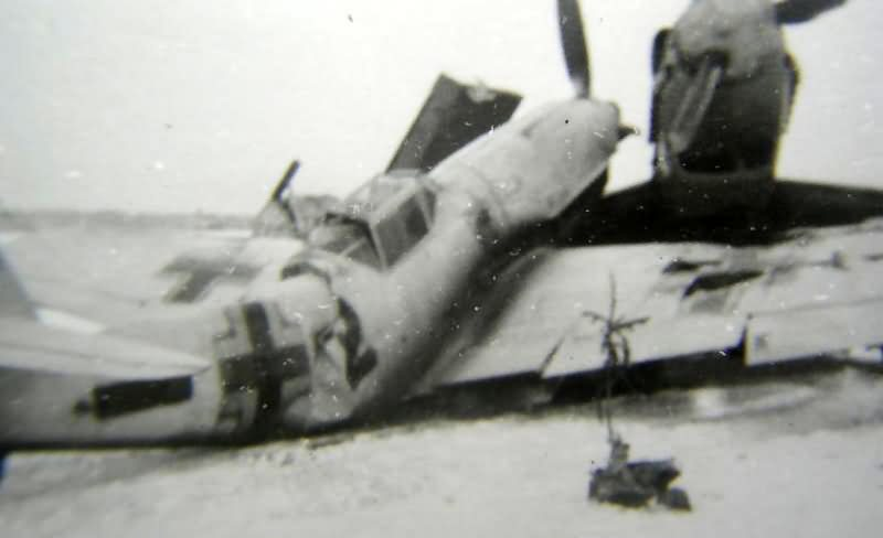 Me109 with typical winter camouflage scheme