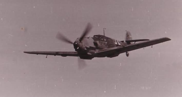 Bf109 from JG2 in flight during World War II