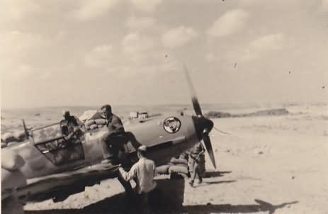 Me109E of the Stab I/JG 27 Edu Neuman Africa 1941