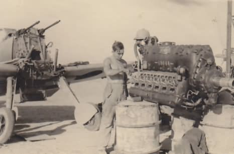 Me 109 F-4 trop 5/JG 27 1941 – engine is removed during overhaul