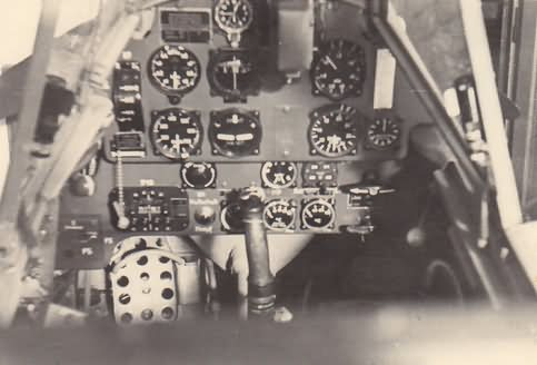 Me 109F from 5/JG 27, cockpit interior 1941