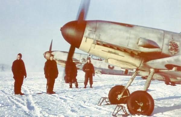 Messerschmitt Bf 109 F of the JG54 in the Winter of 1942
