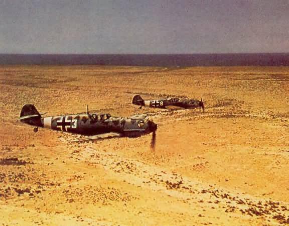 Messerschmitt bf 109e 7 trop color JG27 over desert