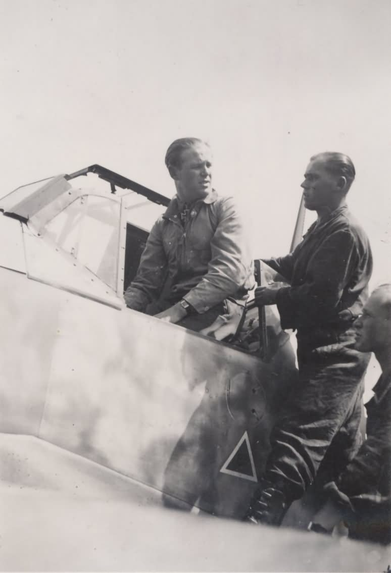 "Major Walter ""Gulle"" Oesau in cockpit of his Bf109"