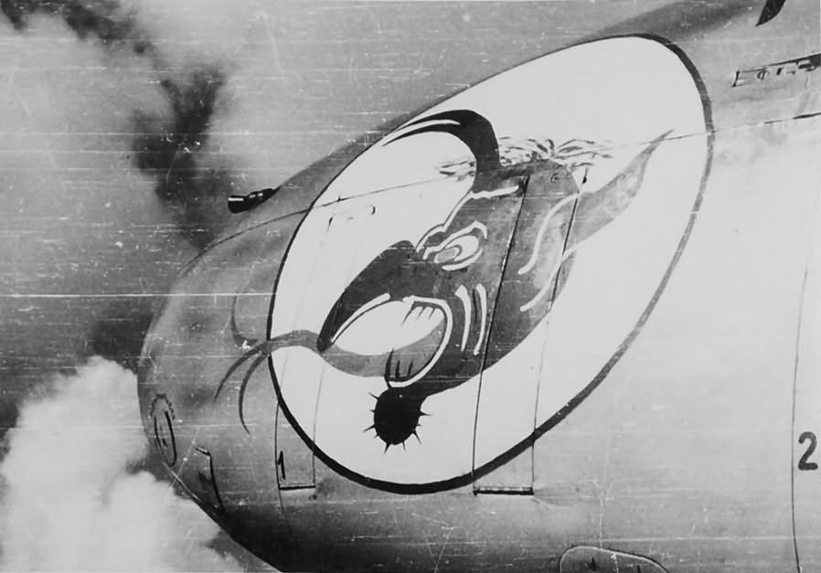 Messerschmitt Bf 110 of the III/ZG 76 – nose art