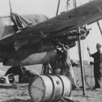 Messerschmitt Bf110 of the 7(F)/LG 2 during maintenance – Kalamaki 1941