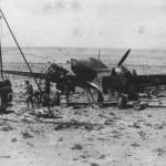 Luftwaffe mechanics servicing Messerschmitt Bf 110 Africa