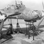 Messerschmitt Bf 110 during maintenance – frontal view