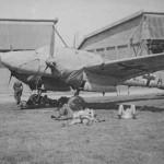 Messerschmitt Bf 110 trainer on airfield