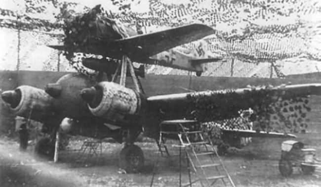 Mistel 2 Ju88 and Fw 190