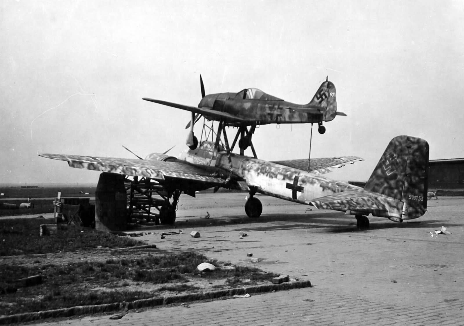 Mistel Fw190 and Ju88 590153 at Merseburg Germany