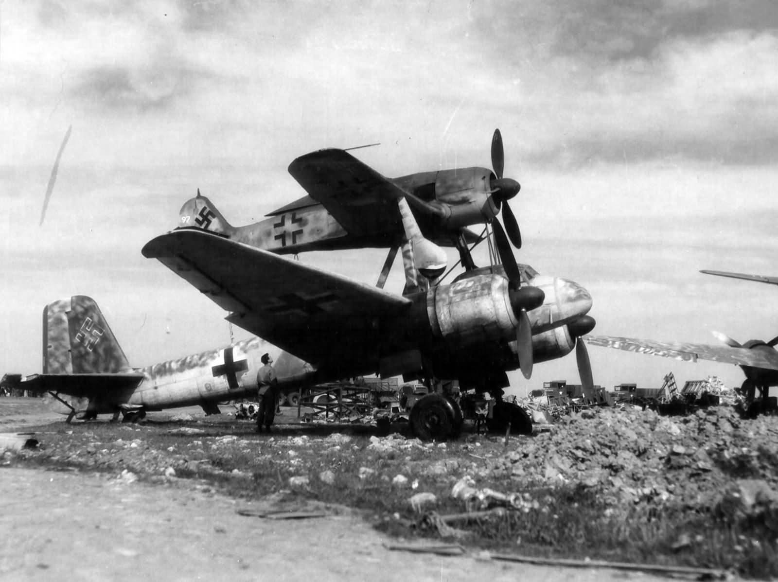 Mistel Fw190 + Ju88 1945
